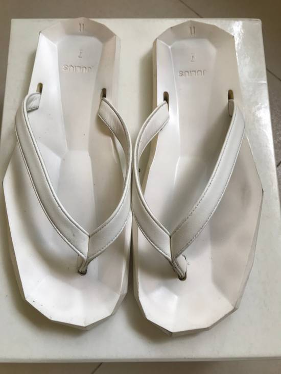 Julius SS 15 white Hexagonal shape slippers Size US 10.5 / EU 43-44