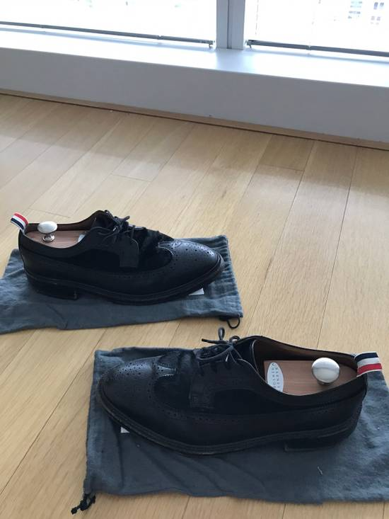 Thom Browne Black Thom Browne Wingtips Pony Hair Size US 11 / EU 44 - 3