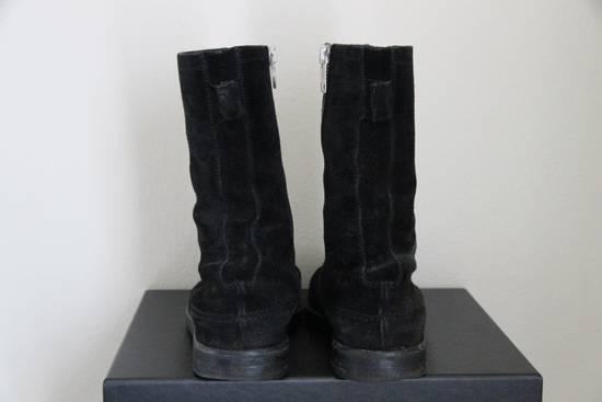 Dior RARE AW04 Dior Homme 'VOTC' Hedi Slimane Black Suede Leather Boots 42 / 9 Size US 9 / EU 42 - 6