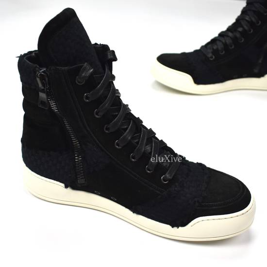 Balmain Black Woven Suede Sneakers DS Size US 8 / EU 41 - 3