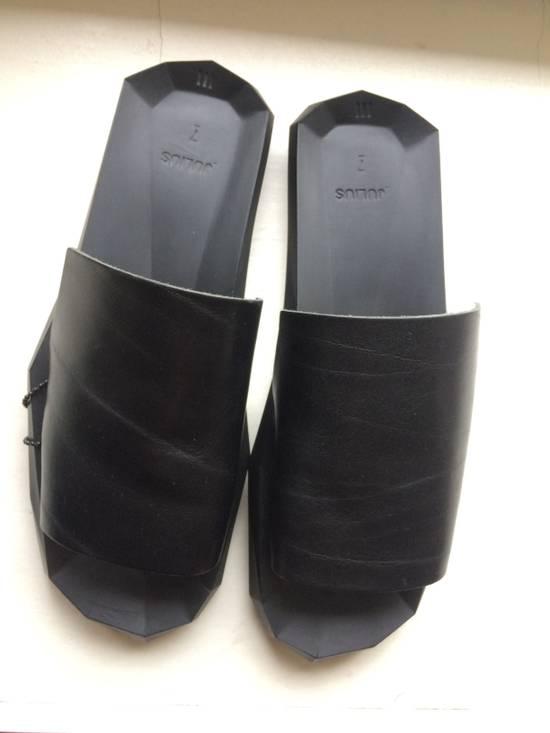 Julius Black Leather Slide Sandals Size US 8 / EU 41 - 6