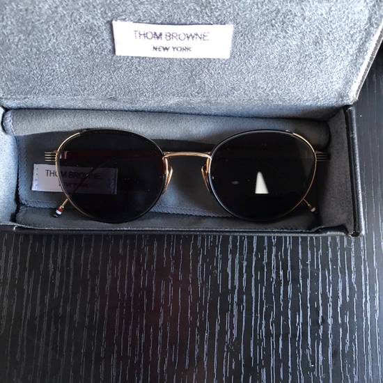Thom Browne Thom Browne Gold Round Sunglasses Size ONE SIZE - 1