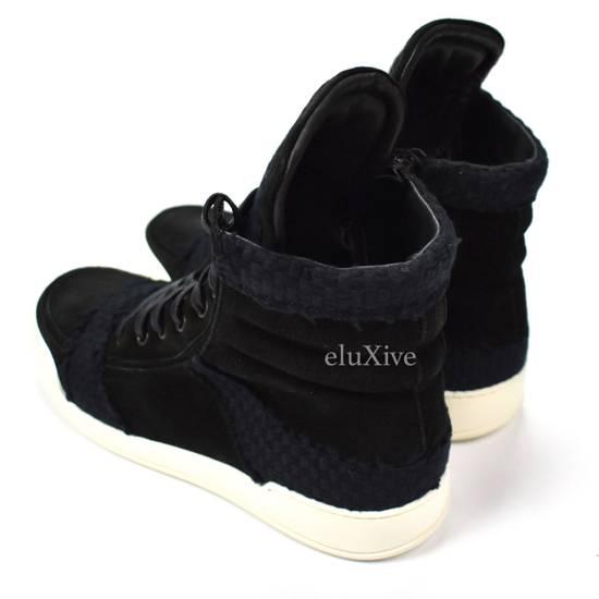 Balmain Black Woven Suede Sneakers DS Size US 8 / EU 41 - 6