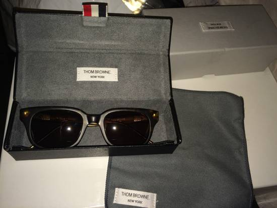 Thom Browne TB-401-B-T-TKT-49.5 sunglasses square frame Size ONE SIZE