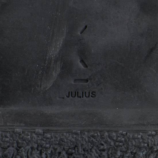 Julius 7 Black Coated Cloth Leather Hi Top Sneakers Shoes Size US 11 / EU 44 - 7