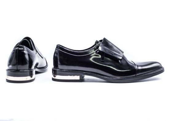 Givenchy Givenchy Mens Richelieu Metal Heel Black Leather Oxfords Size US 11 / EU 44 - 3