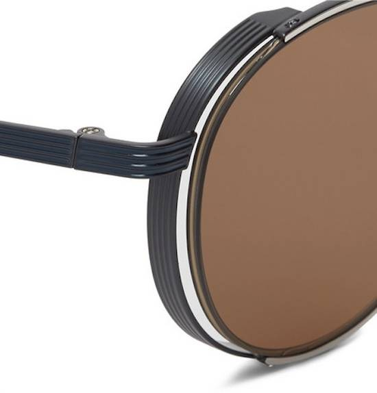 Thom Browne NEW Thom Browne TB-106 E Silver - Navy Dark Brown Sunglasses 50-21-145mm round Size ONE SIZE - 1