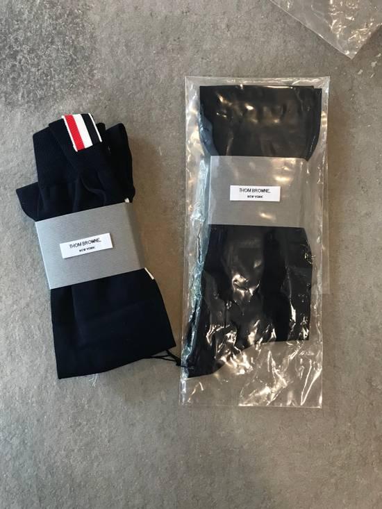 Thom Browne **LAST DROP** Ribbed Knee High Sock W/ 4 Bar Stripe Size ONE SIZE - 4