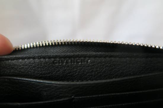 Givenchy Givenchy Pandora Logo Metal Black Leather Zip Long Wallet Size ONE SIZE - 6