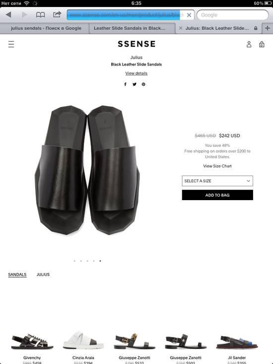 Julius Black Leather Slide Sandals Size US 8 / EU 41