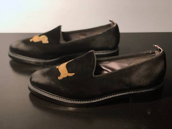 Thom Browne Embroidered Dog Distressed Velvet Runway Loafers Size US 11 / EU 44 - 1