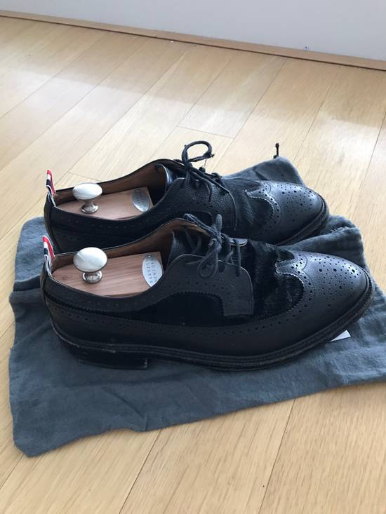 Thom Browne Black Thom Browne Wingtips Pony Hair Size US 11 / EU 44 - 1
