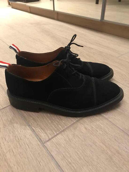 Thom Browne Black Suede Derby Oxford Shoes Size US 9 / EU 42 - 1