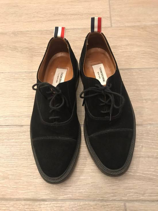 Thom Browne Black Suede Derby Oxford Shoes Size US 9 / EU 42