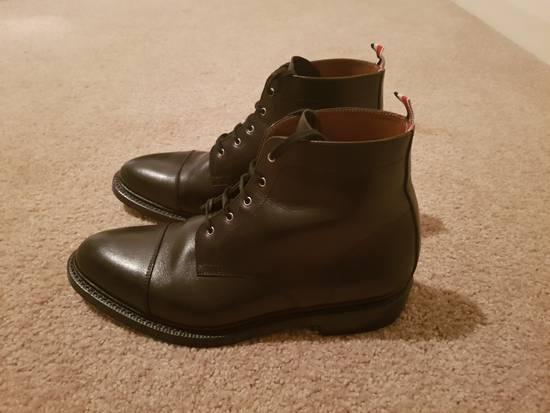 Thom Browne Black Cropped Derby Boot Size US 10.5 / EU 43-44 - 1
