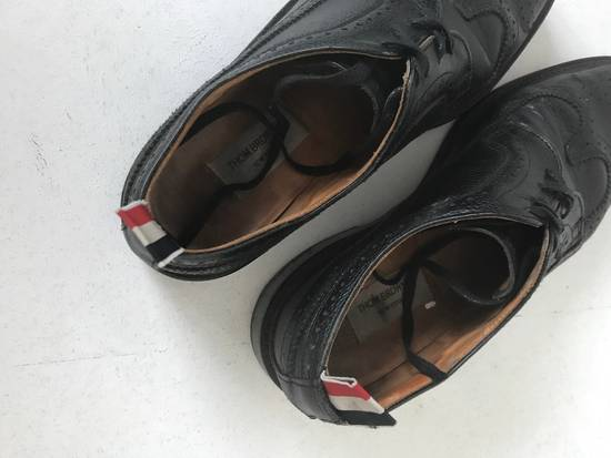 Thom Browne Classic Long Wing Brogue In Black Pebble Size US 8.5 / EU 41-42 - 2
