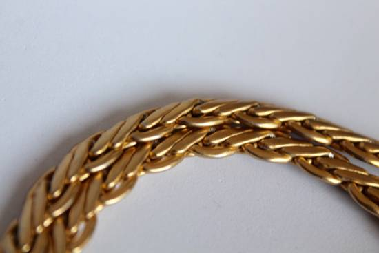 Givenchy Gold Plated Flat Wheat-Link Chain Size ONE SIZE - 1