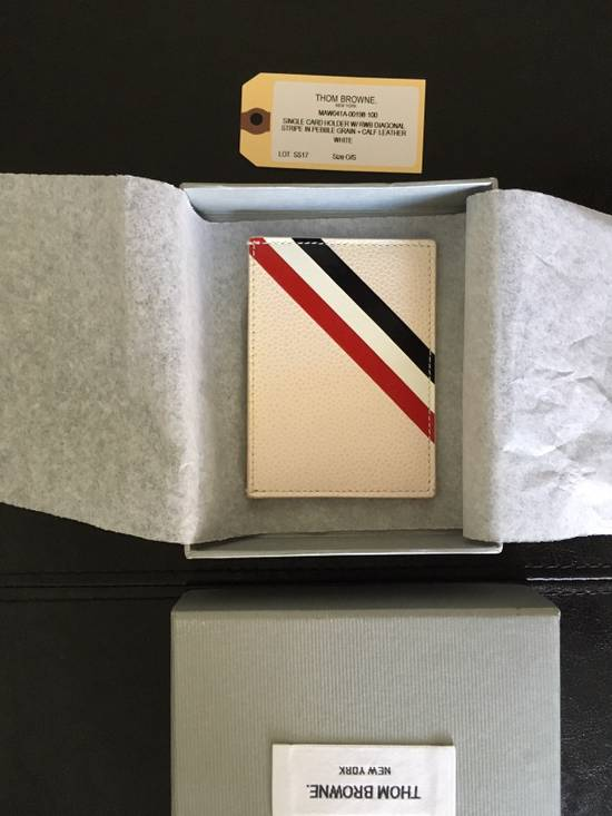 Thom Browne Off-White Diagonal Stripe Single Card Holder Size ONE SIZE - 2