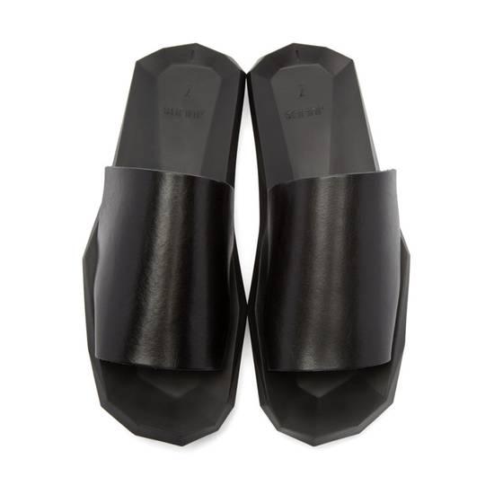Julius Black Leather Slide Sandals Size US 8 / EU 41 - 1