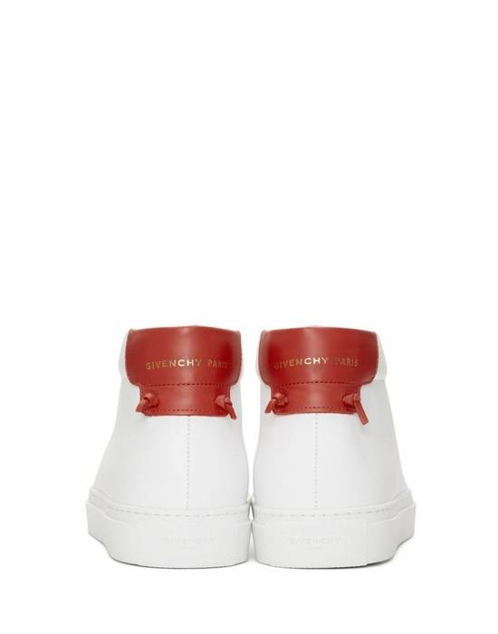 Givenchy Givenchy Urban Street Mid Sneakers - White & Red (Size - 41) Size US 8 / EU 41 - 2