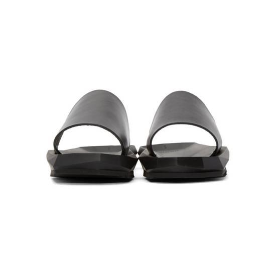Julius Black Leather Slide Sandals Size US 8 / EU 41 - 3
