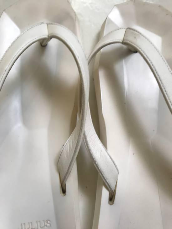 Julius SS 15 white Hexagonal shape slippers Size US 10.5 / EU 43-44 - 2