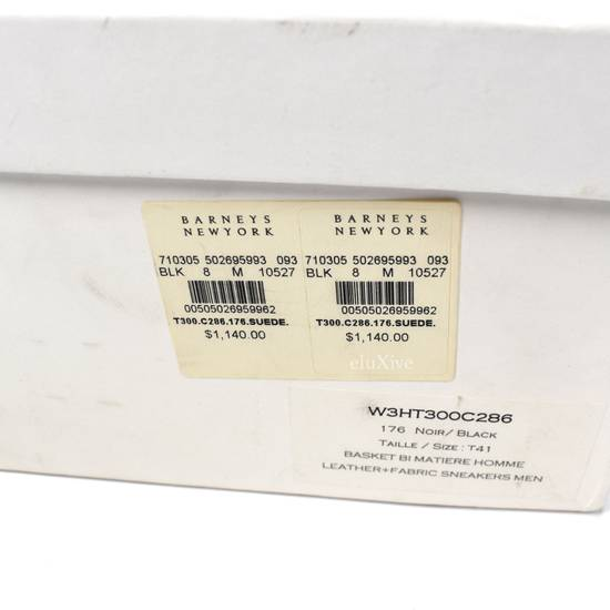 Balmain Black Woven Suede Sneakers DS Size US 8 / EU 41 - 12