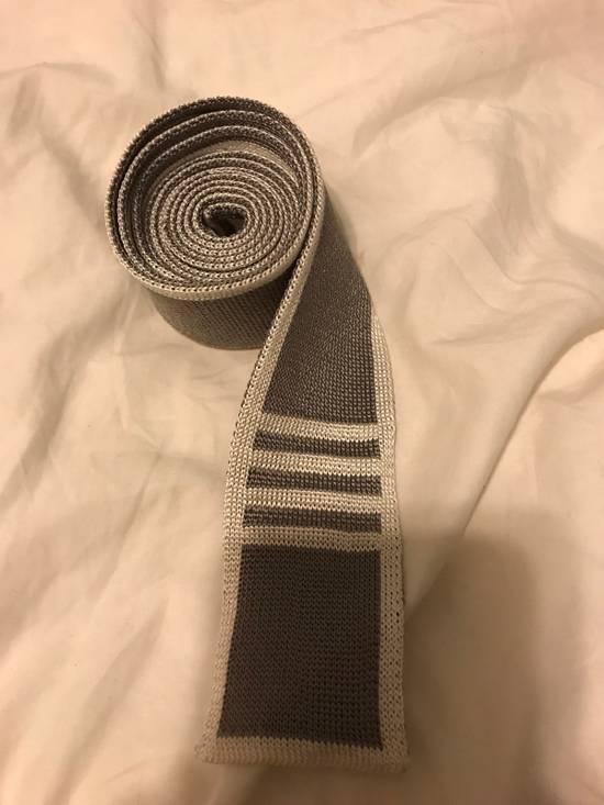 Thom Browne Thom Browne Gray Silk Tie Size ONE SIZE - 3