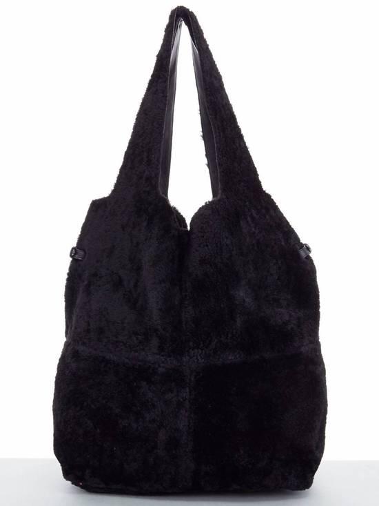 Givenchy GIVENCHY TISCI black reversible leather shearling fur oversize hobo shoulder bag Size ONE SIZE