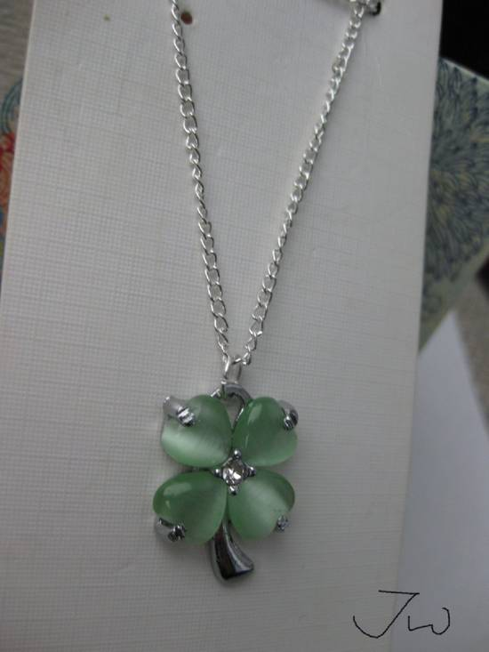 Jw Green Lucky Leaf Chain Necklace Size ONE SIZE - 1
