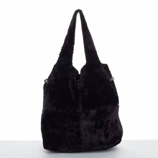 Givenchy GIVENCHY TISCI black reversible leather shearling fur oversize hobo shoulder bag Size ONE SIZE - 7