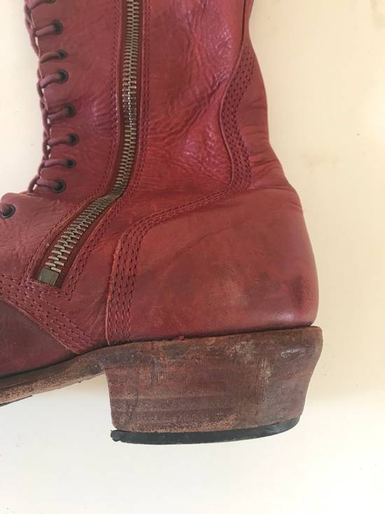 Julius AW09 blood high cut side zips boots Size US 10 / EU 43 - 6