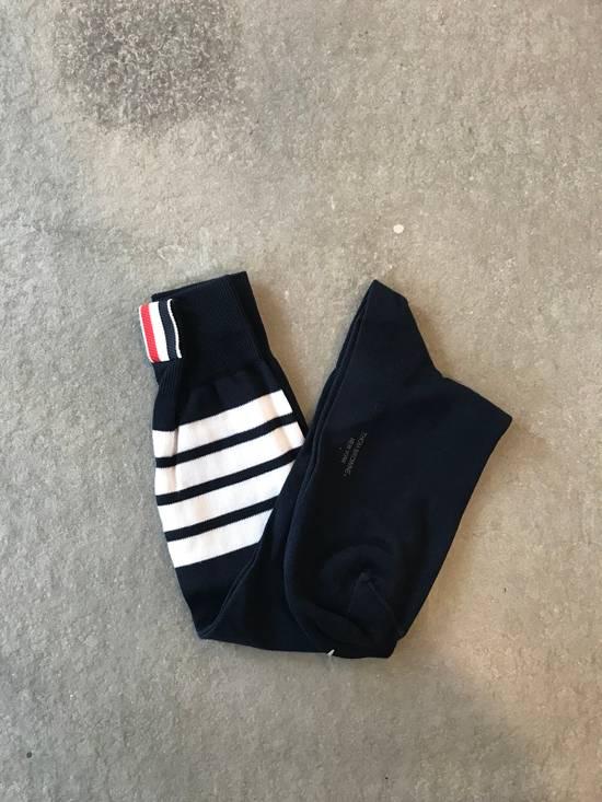 Thom Browne **LAST DROP** Ribbed Knee High Sock W/ 4 Bar Stripe Size ONE SIZE
