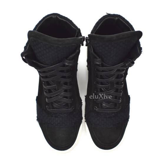 Balmain Black Woven Suede Sneakers DS Size US 8 / EU 41 - 5