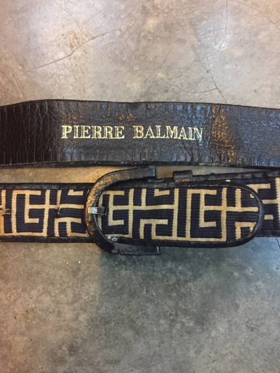 Balmain Rare!Vintage!Pierre Balmain Belts in Classic Monogram Streetwear!High-End!Hypebeast! Size 30 - 1