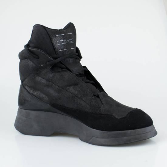 Julius 7 Black Coated Cloth Leather Hi Top Sneakers Shoes Size US 11 / EU 44 - 4