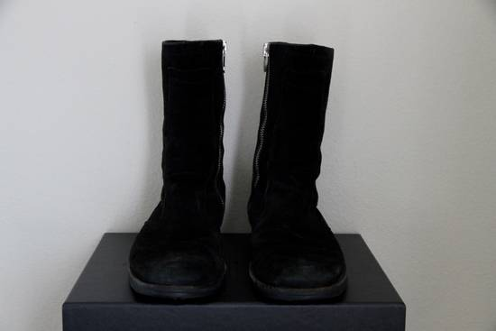 Dior RARE AW04 Dior Homme 'VOTC' Hedi Slimane Black Suede Leather Boots 42 / 9 Size US 9 / EU 42 - 1