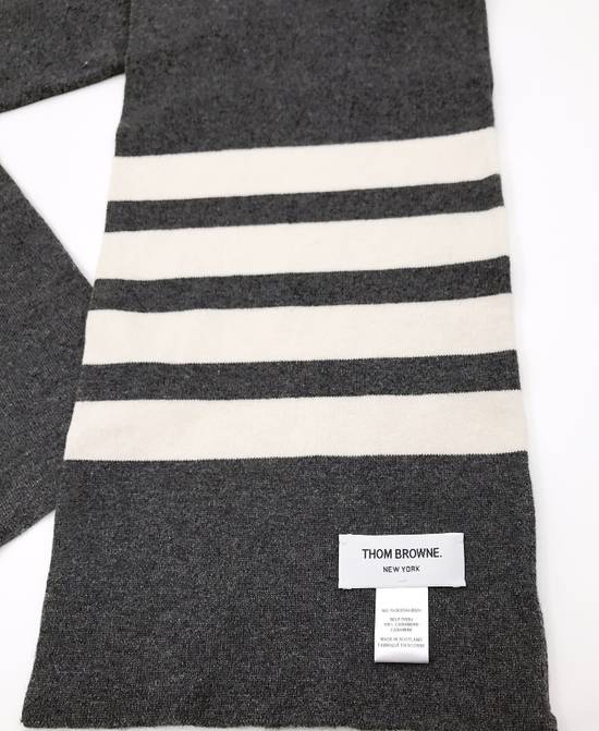 Thom Browne THOM BROWNE CLASSIC CASHMERE MID GREY SCARF Size ONE SIZE - 1