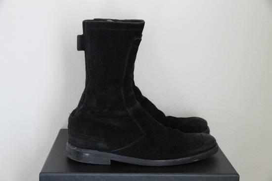 Dior RARE AW04 Dior Homme 'VOTC' Hedi Slimane Black Suede Leather Boots 42 / 9 Size US 9 / EU 42 - 4