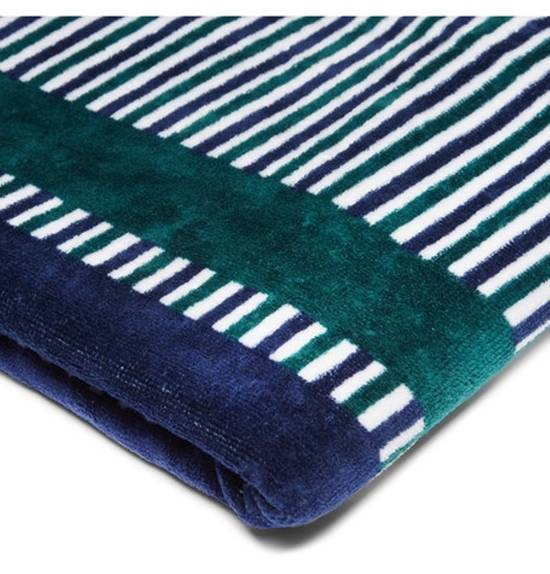 Thom Browne Striped Cotton Towel Size ONE SIZE - 3