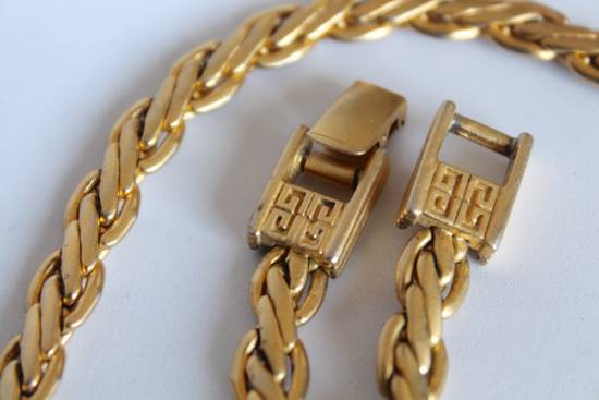 Givenchy Gold Plated Flat Wheat-Link Chain Size ONE SIZE - 3