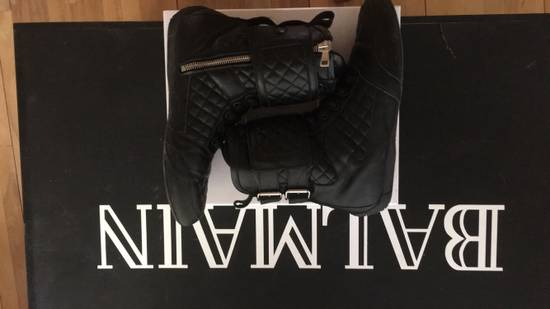 Balmain Quilted Leather Sneaker Size US 9 / EU 42 - 4