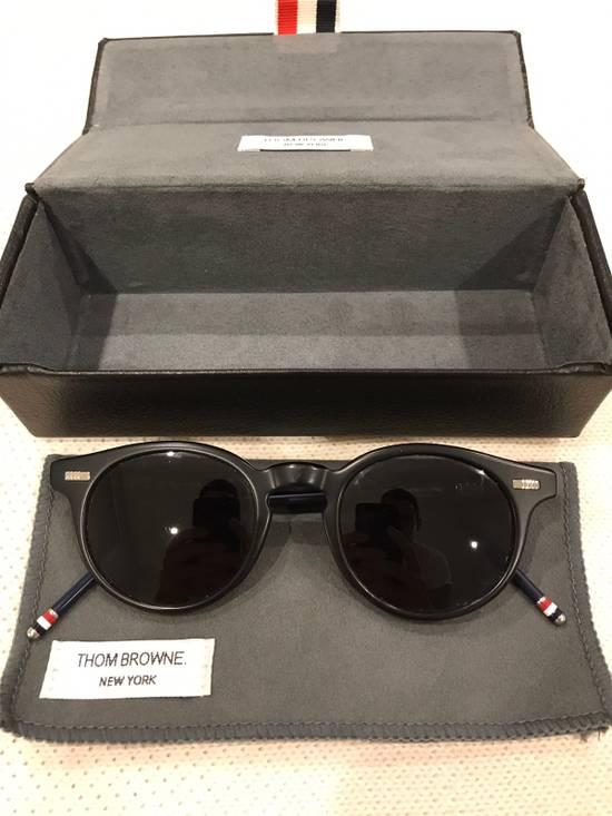 Thom Browne Thom Browne Matte Black Round Frame Sunglasses Size ONE SIZE