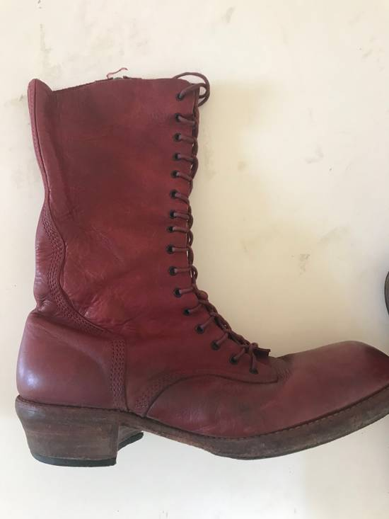 Julius AW09 blood high cut side zips boots Size US 10 / EU 43 - 2