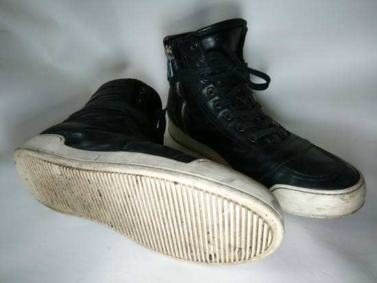 Balmain Black Leather Balmain Baskets Size US 9.5 / EU 42-43 - 3