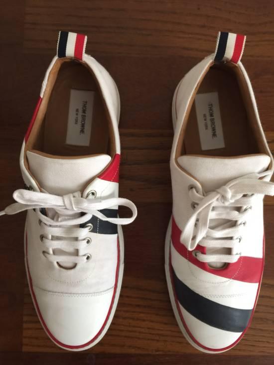 Thom Browne Men's Thom Browne Cap Toe Low-Top White Training Sneakers Size US 11 / EU 44 - 3
