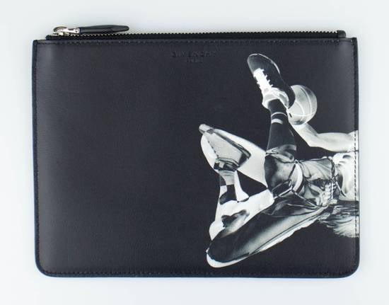 Givenchy Black Leather Star Athlete Medium Zip Pouch Bag Size ONE SIZE