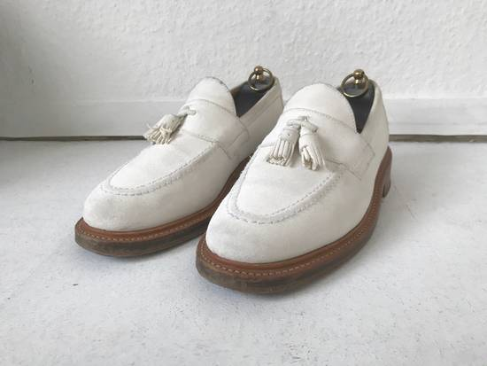 Thom Browne LIMITED THOM BROWNE White Suede Tassel Loafers RWB GG Size US 8.5 / EU 41-42