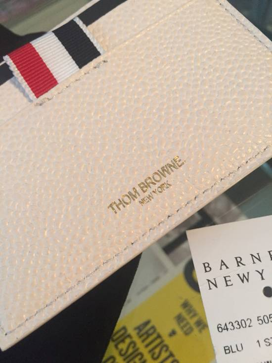 Thom Browne New $370 Leather Card Holder Size ONE SIZE - 3