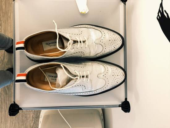 Thom Browne tb silver leather shoes Size US 8.5 / EU 41-42